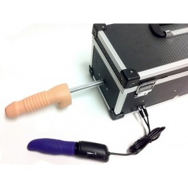 Секс-машина с 2 сменными насадками и вибратором